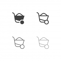 Wheelbarrow Icons - Multi Series