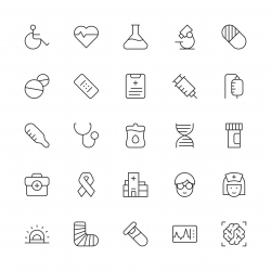 Healthcare and Medical Icons - Thin Line Series