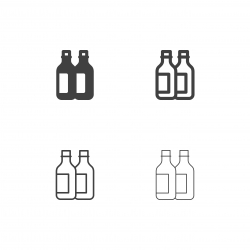 Wine Bottle Icons - Multi Series