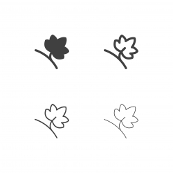 Grape Leaf Icons - Multi Series