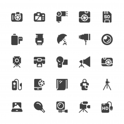 Photography Icons - Gray Series