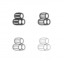 Wine Barrel Icons - Multi Series