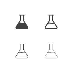 Chemistry Flask Icons - Multi Series