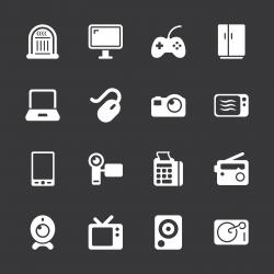 Electronics Icons - White Series   EPS10