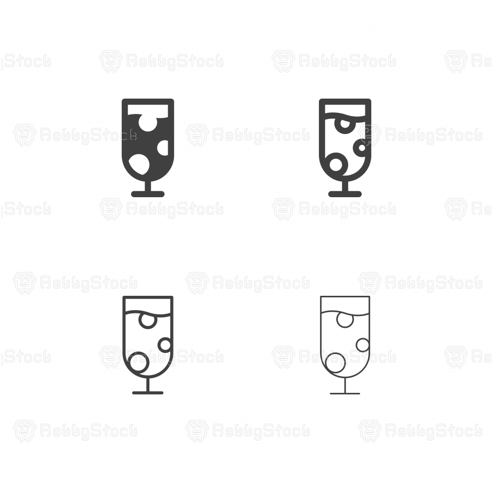 Sparkling Drink Icons - Multi Series