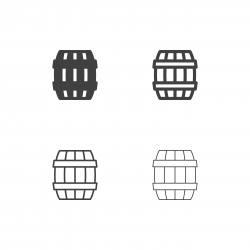 Oak Barrel Icons - Multi Series