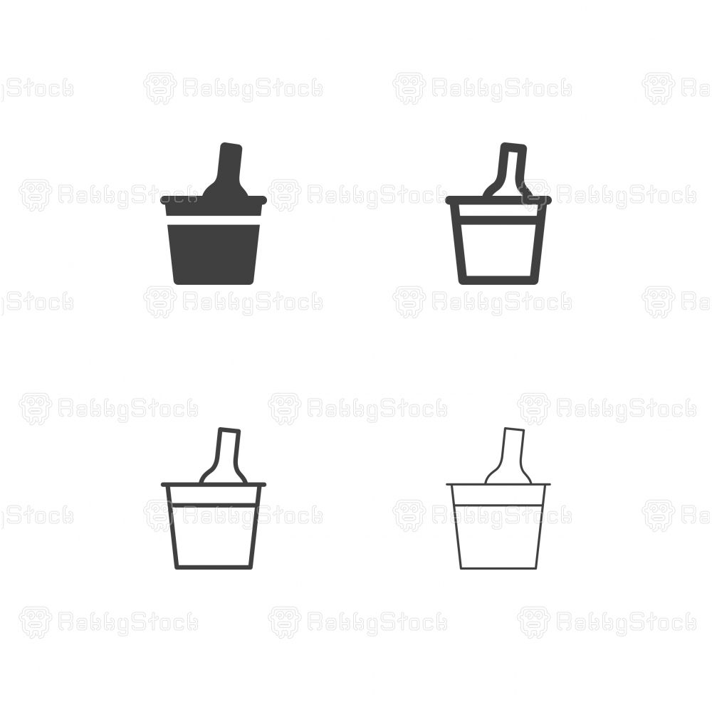 Wine Cooler Bucket Icons - Multi Series