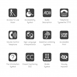 Disabled Accessibility Icons - Gray Series
