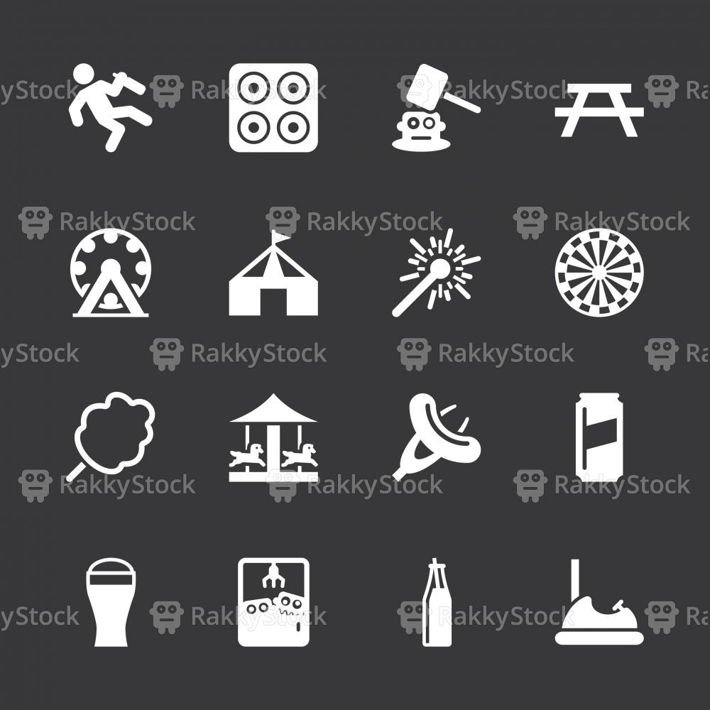 Festival Icons - White Series | EPS10