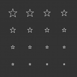 Star Shape Icons - White Multi Scale Line Series