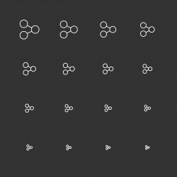 Sharing Icons - White Multi Scale Line Series
