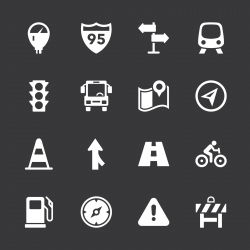 Traffic Icons - White Series | EPS10