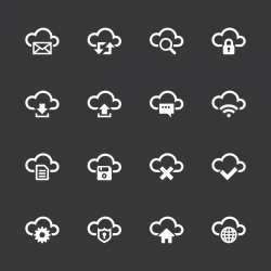Cloud Computing Icons - White Series | EPS10