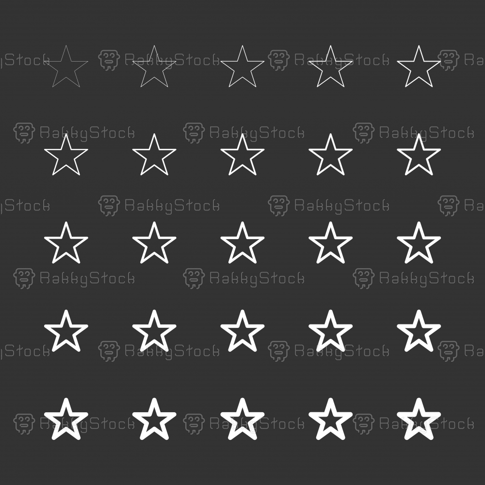 Star Shape Icon - White Multi Line Series