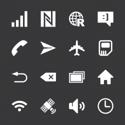 Smartphone Interface Icons - White Series | EPS10