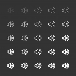 Speaker Icons - White Multi Line Series