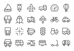 Transport Icon - Light Line Series