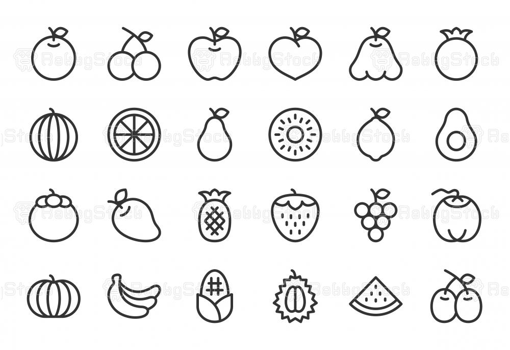 Fruit Icon - Light Line Series