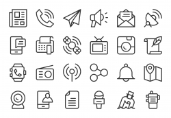 Communication Icons - Light Line Series