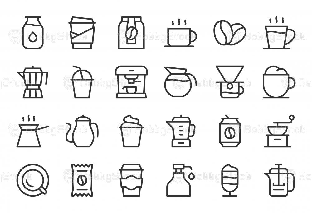 Coffee Icons - Light Line Series