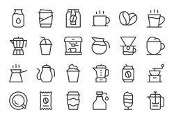 Coffee Icons - Light Line Series