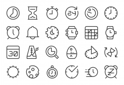 Time Icons - Light Line Series