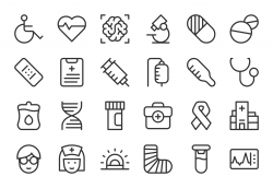 Healthcare and Medical Icons - Light Line Series