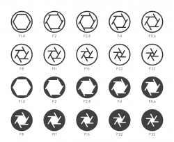 Size of Aperture Set 2 - Multi Icons Series