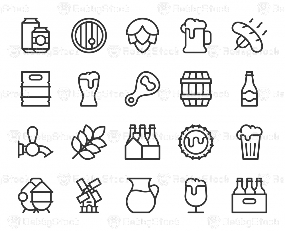 Beer - Line Icons