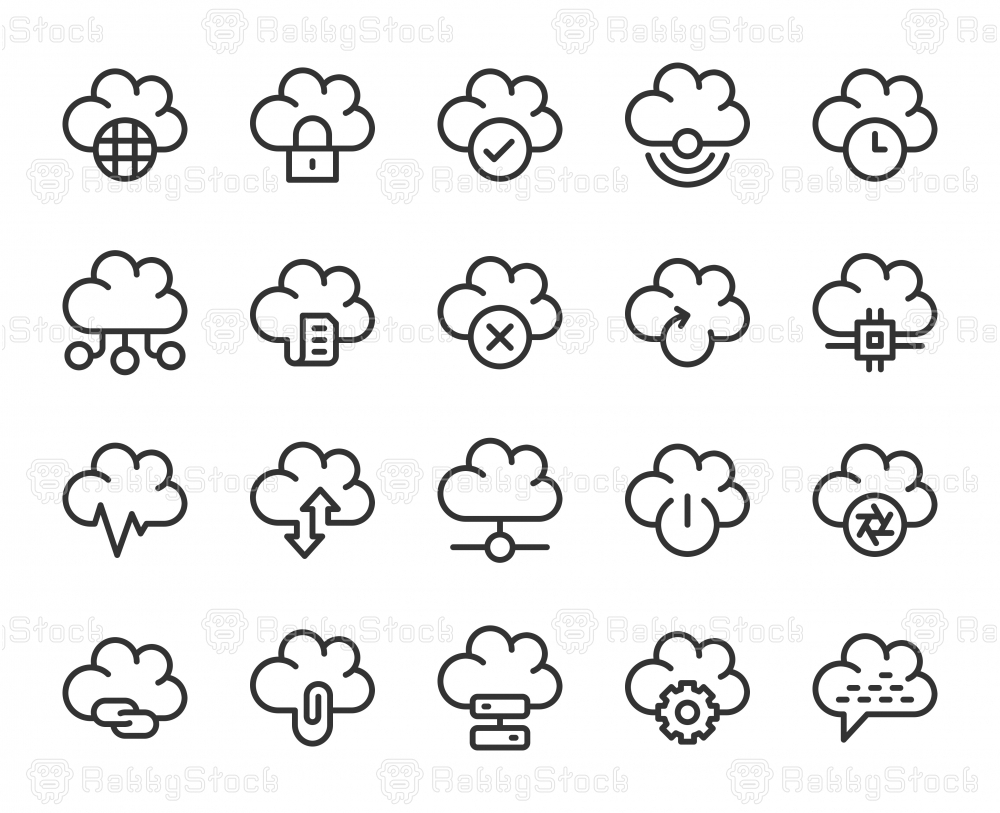 Cloud Computing - Line Icons