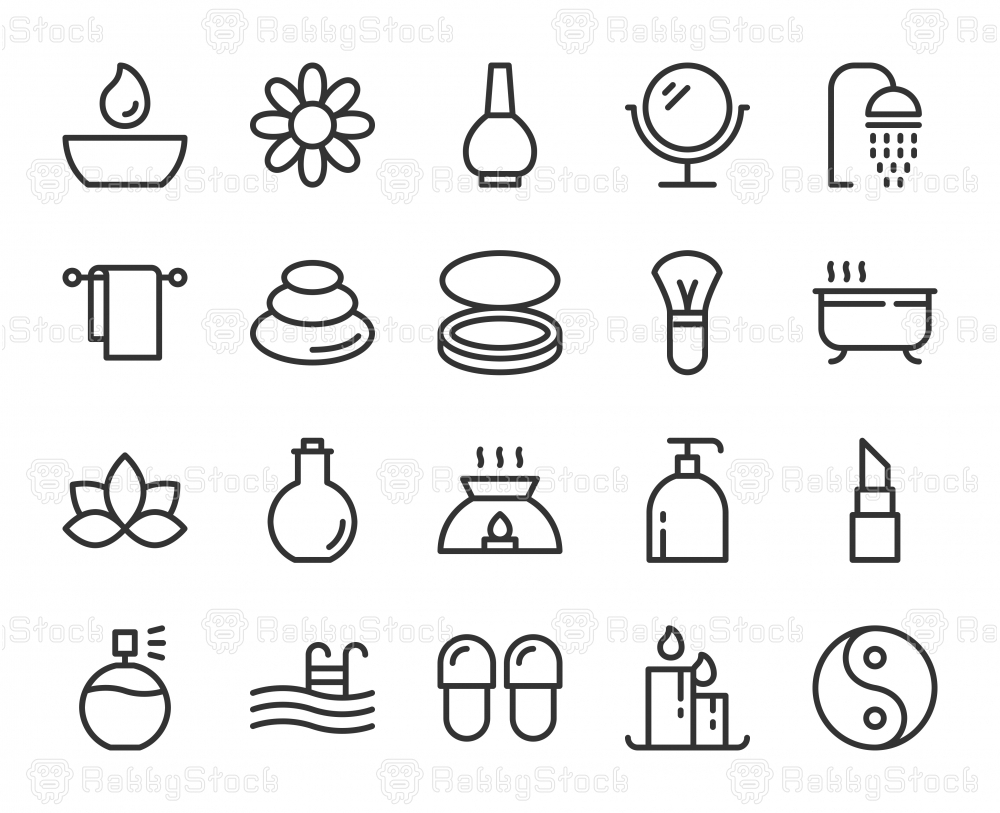 Spa and Beauty - Line Icons