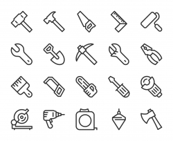 Work Tool - Line Icons