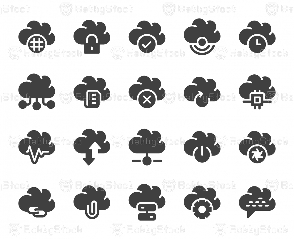 Cloud Computing - Icons