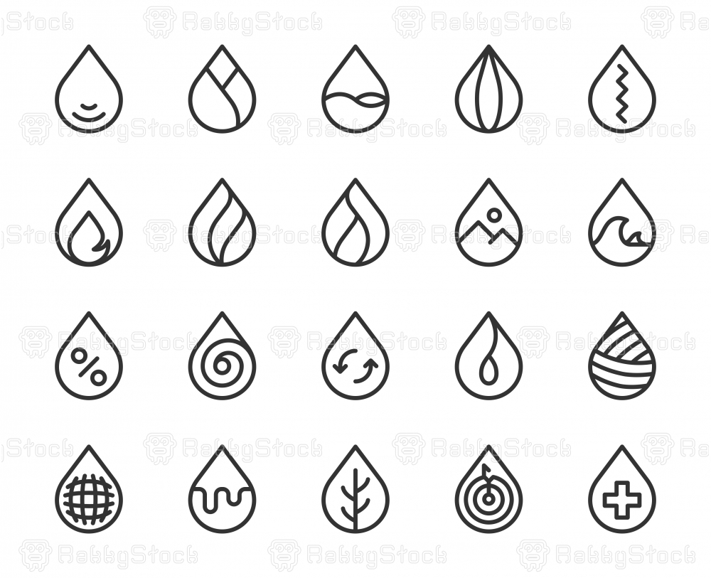 Drop Shape - Line Icons
