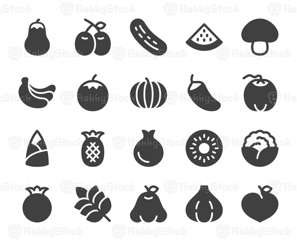 Vegetable and Fruit - Icons