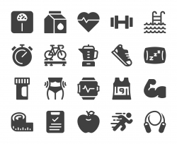 Fitness and Healthy Life - Icons