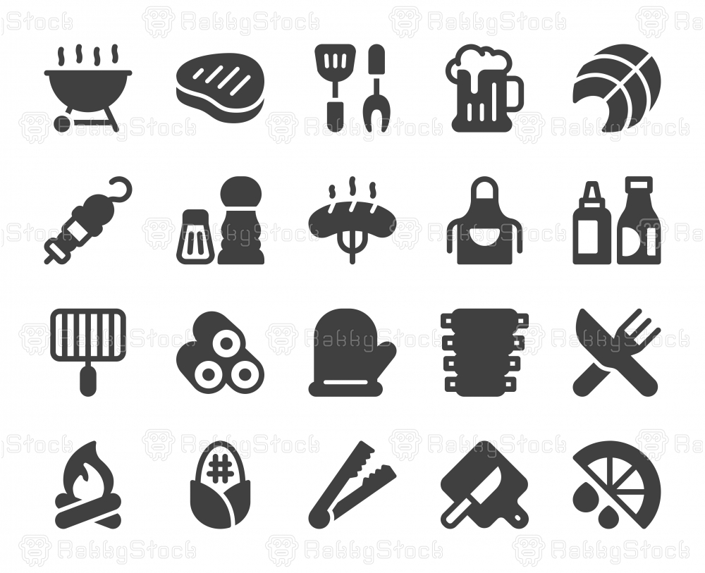 Barbecue Grill - Icons