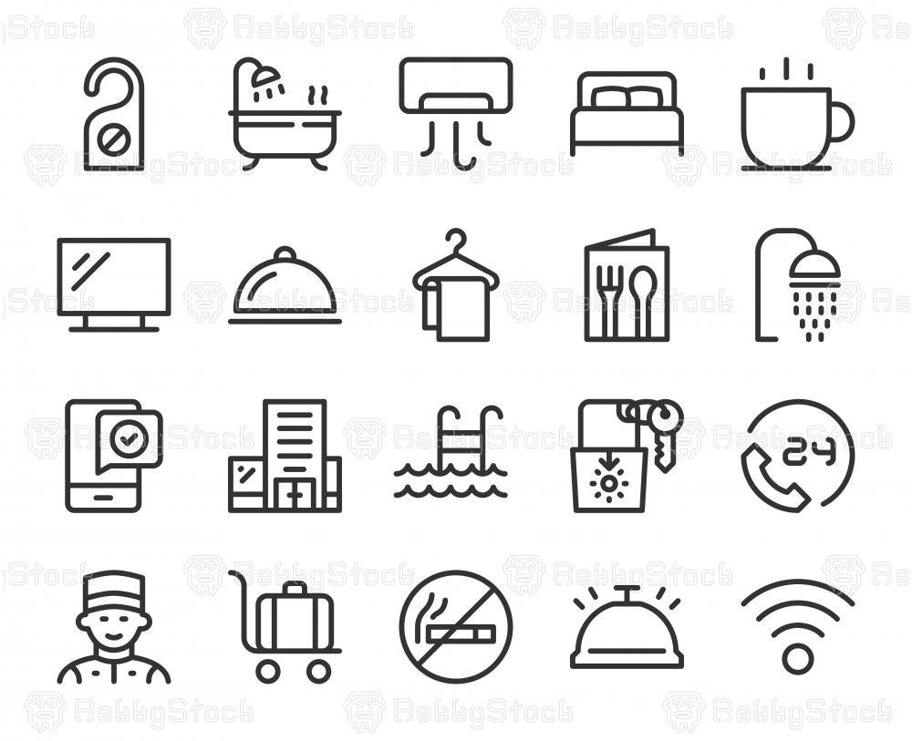 Hotel - Line Icons