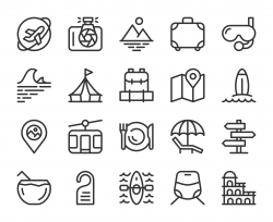 Travel - Line Icons