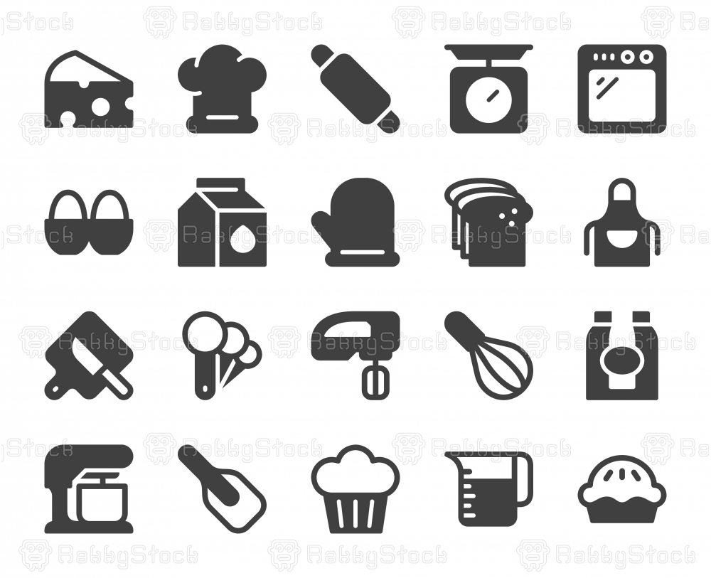 Baking and Bakery - Icons