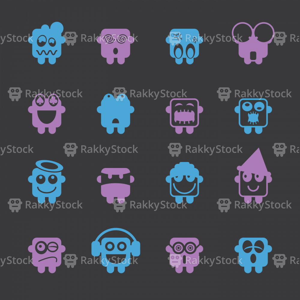 Emoticons Set 3 - Color Series   EPS10