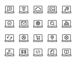 Laptop - Line Icons