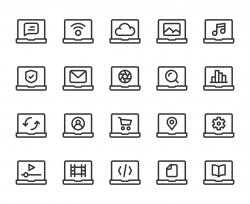 Laptop - Line Icons
