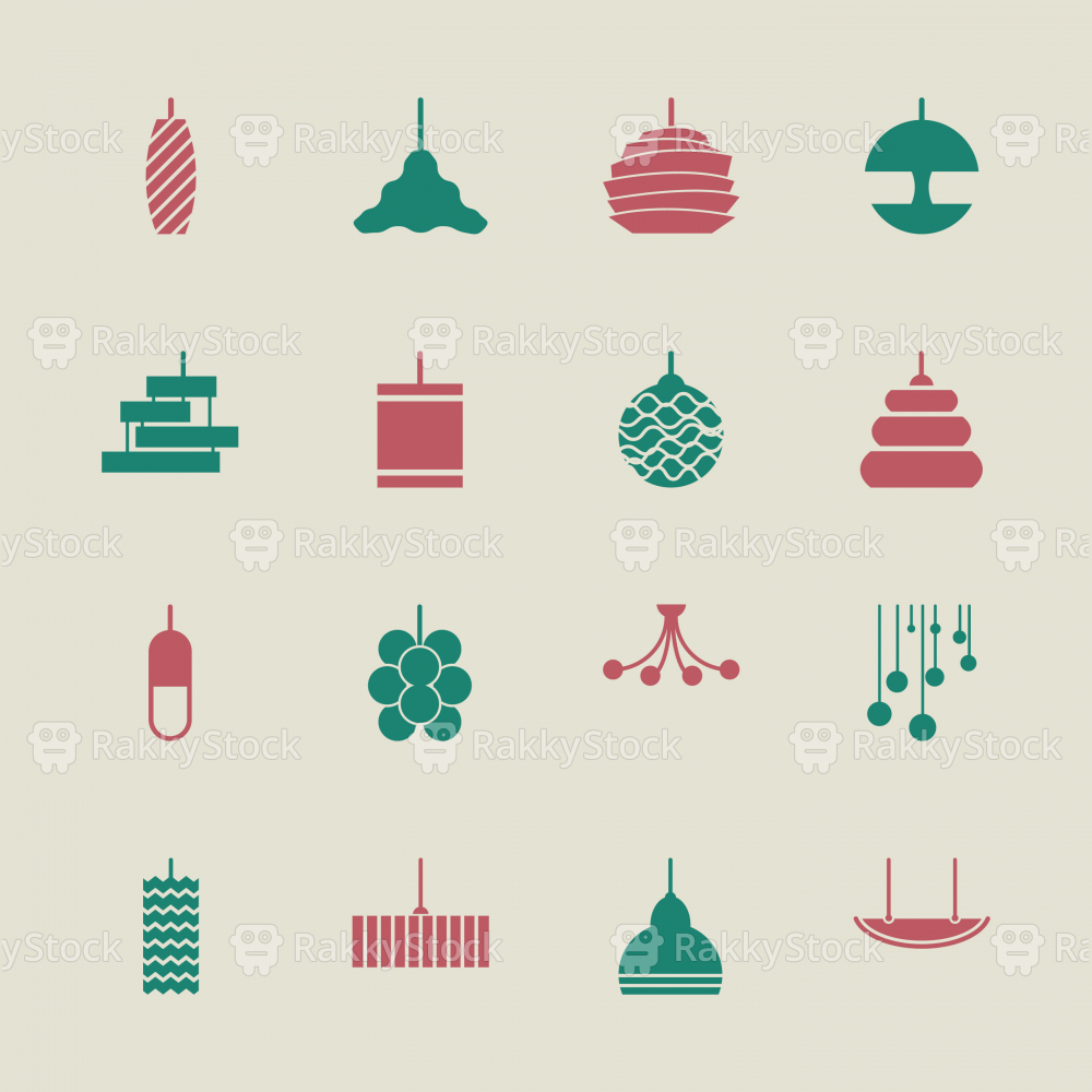 Lamp Design Icons - Color Series | EPS10