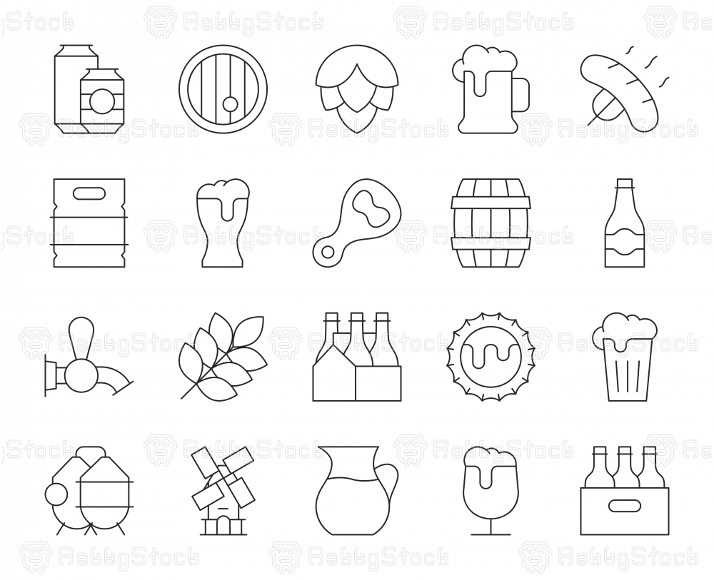 Beer - Thin Line Icons