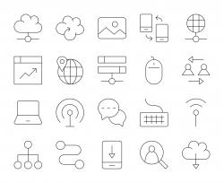 Internet - Thin Line Icons