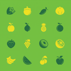 Fruit Icons - Color Series | EPS10