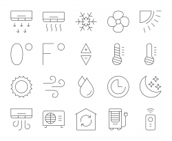 Air Conditioner - Thin Line Icons