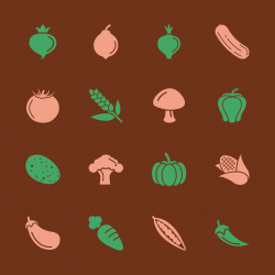 Vegetable Icons - Color Series | EPS10