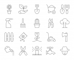 Gardening - Thin Line Icons